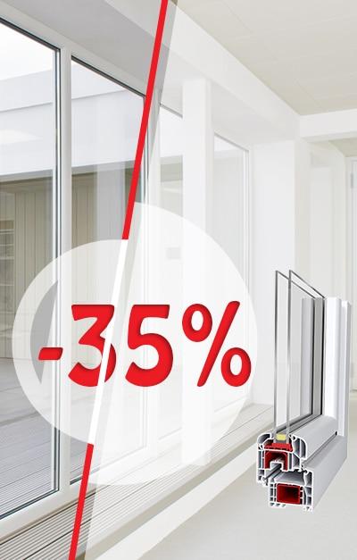 ОТСТЪПКИ ДО 35 % ПРИ ПОРЪЧКА НА ДОГРАМА ДО 15 ОКТОМВРИ!
