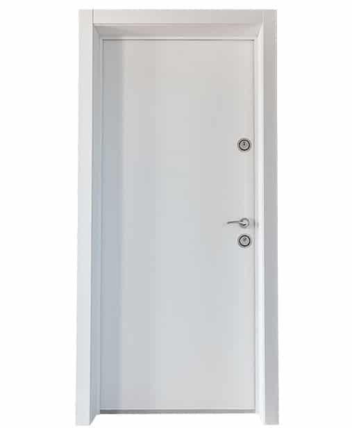 """Българска входна врата модел Doormex в цвят """"Бял Алкор"""""""